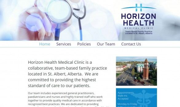 Horizon Health - Medical Clinic Website